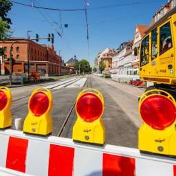 Bauarbeiten in der Andreasstraße