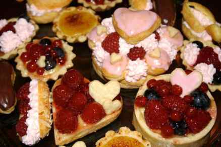 A selection of French pastries and tarts