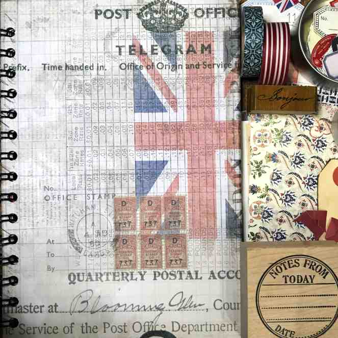 London and Paris themed travel journal and supplies