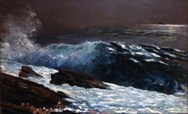 """Sunlight on the Coast""- Winslow Homer 1890"