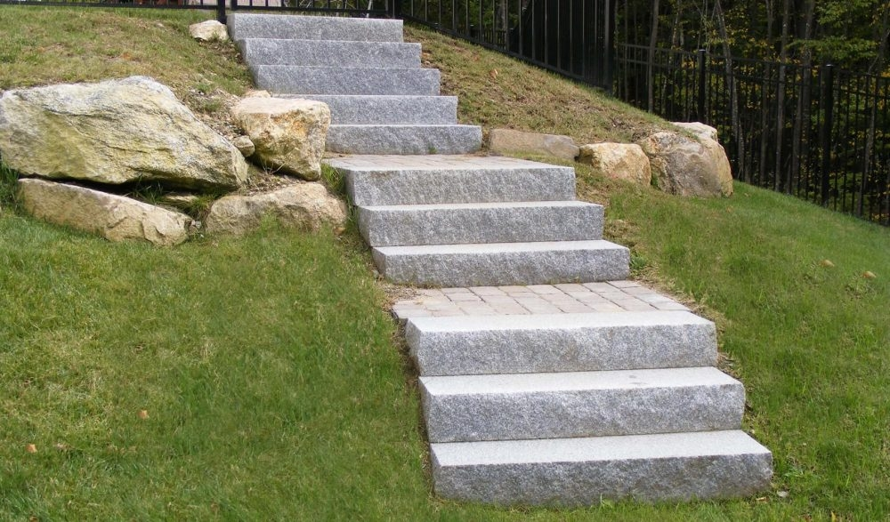 Steps And Treads Swenson American Granite Products | Outside Steps For Sale | Wood | Iron | Handrail | Pensacola | Door