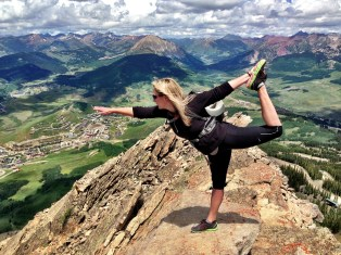 At the summit of Mount Crested Butte