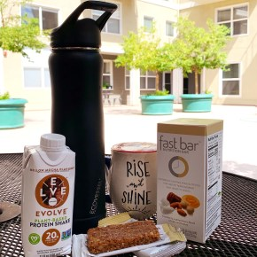 On the Go Nutrition and Hydration: Fast Bar, Evolve Protein Shake and EcoVessel Summit Water Bottle
