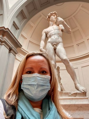 Masks are required indoors, including museum like the Accademia Gallery where Michelangelo's David is located