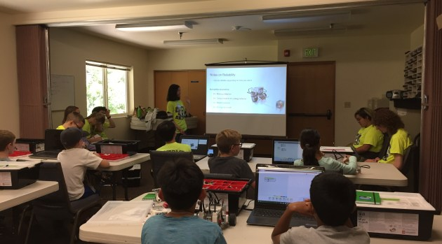 Teaching FLL Campers how to Build a Robot