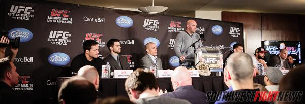 UFC 158 Presser