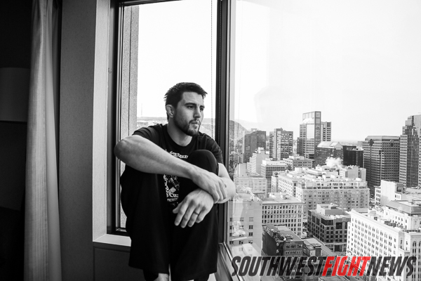 A snapshot from my Fightland interview with Carlos Condit