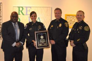 L to R: Chief Diggs, Officer McHale, Chief Moore, Chief Lystad FPCA 1st VP.