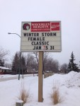 Sign at SWCC WH site announcing Female Classic Tournament