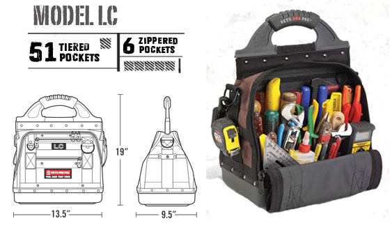 Veto Pro Pac Model LC 51 Tiered Pockets 6 Zippered Pockets