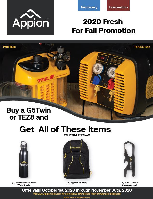 Appion G5 AND TEZ 8 PROMOTION