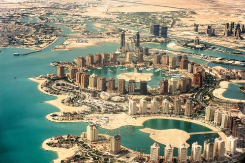 The-Pearl-Qatar-artificial-island-development-in-the-capital-Doha
