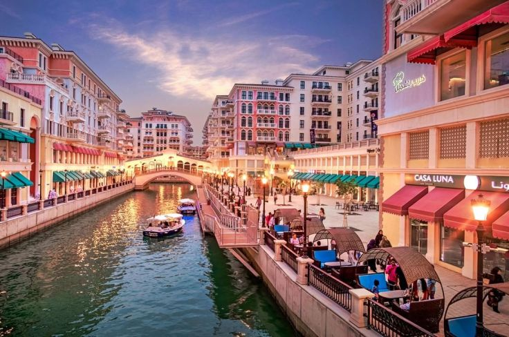 Doha_z_dzieckiem, Doha, stopover, przesiadka, Katar, tranzyt, The_Pearl, Perła, sztuczna_wyspa, Wenecja