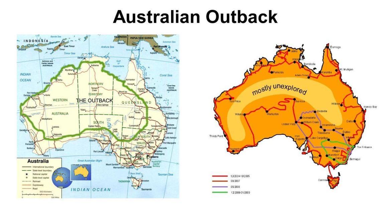 outback australia map - W sercu australijskiego kontynentu - z wizytą na Outbacku!