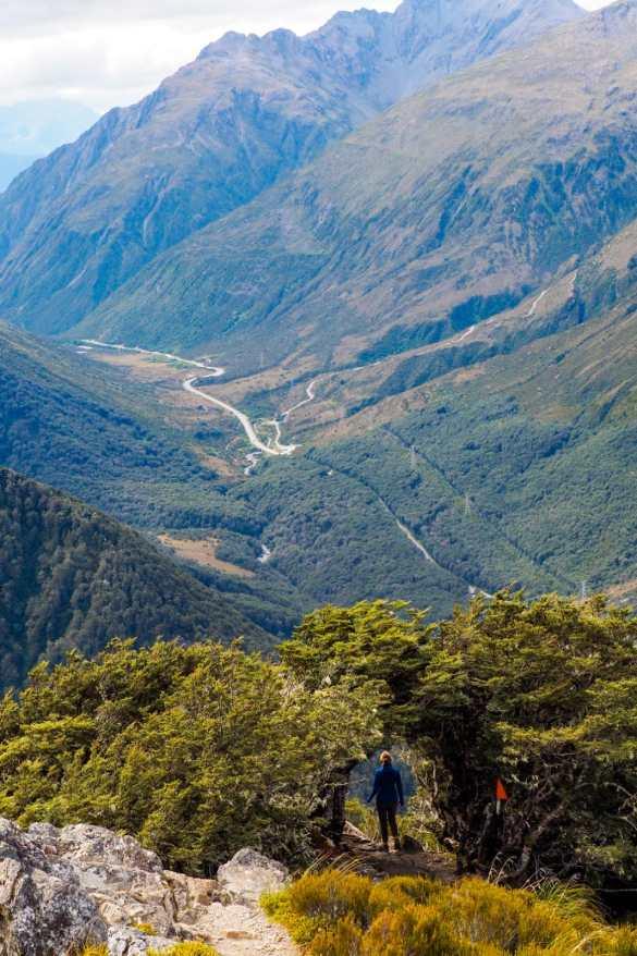 Avalanche Peak NZ - 3 tygodnie w Nowej Zelandii - plan trasy