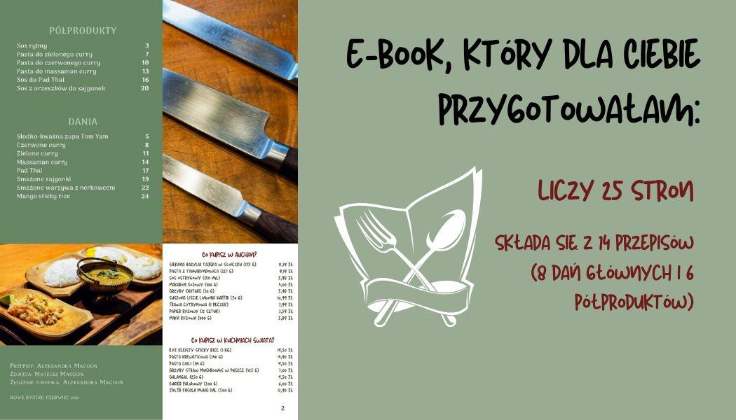 E book który dla Ciebie przygotowałam  - Tajska kuchnia w pigułce
