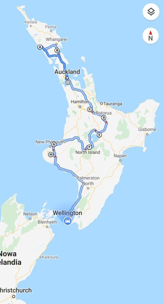 NZ wyspa północna 555x1024 - Nowa Zelandia - koszty podróży
