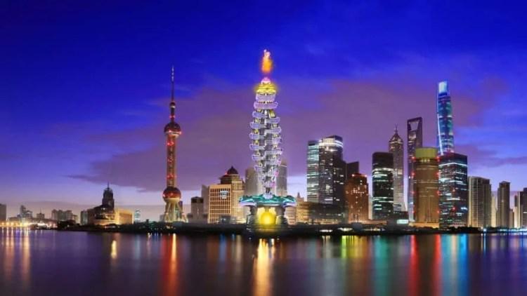 Smart Power Long, Power Long, Richard's Architecture + Design, Smart Power Long by Richard's Architecture + Design, Shanghai, drone car tower, net zero, fire