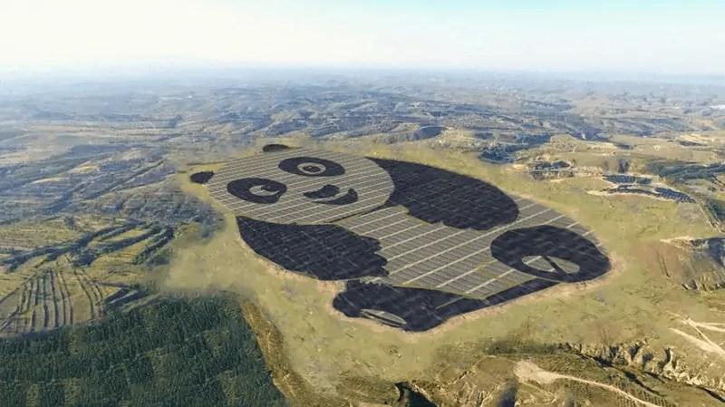 Chiny zbudują 100 farm solarnych w kształcie pandy