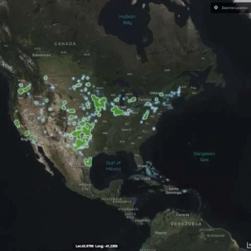 USGS and DOE release nationwide wind turbine map and database