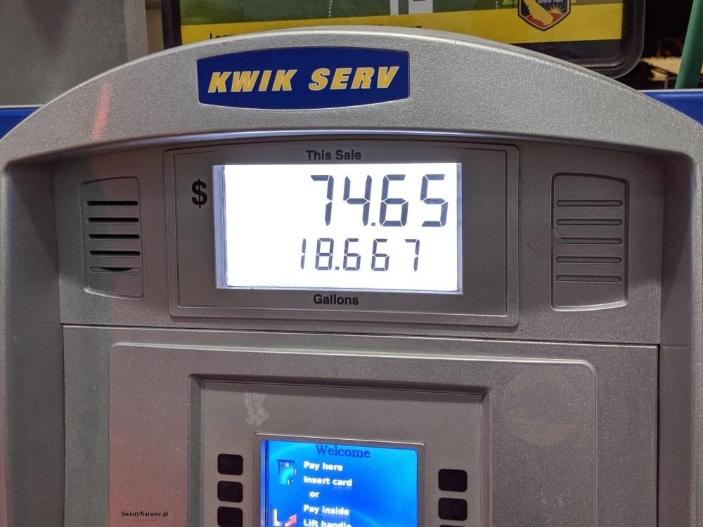 Kamperem po USA | Roadtrip po zachodnich Stanach | Koszty paliwa