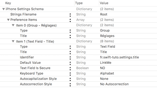 Xcode ios settings bundle