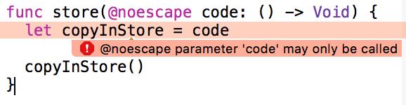 xcode noescape store error