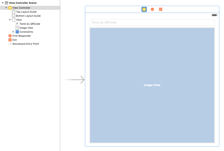 xcode storyboard qrcodegenerator