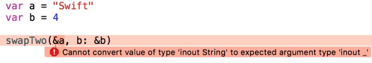 Erreur avec les génériques en swift sous Xcode