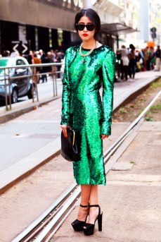 dolce-gabanna-green-sparkle-dress