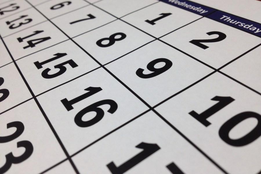 Calendar format SwiftGlimpse wall calendar