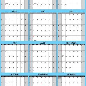 2020 Wall Calendar 24 x 36 Portable Wall Calendar Vertical Orientation