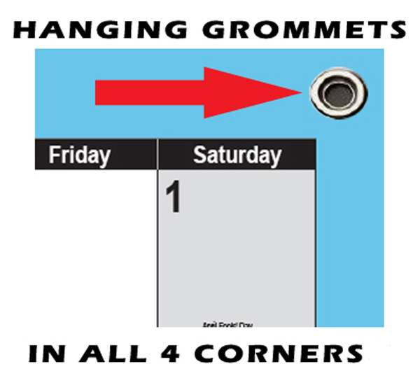 Swiftglimpse Wall Calendar Grommets for Blue Calendars