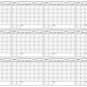 Yearly Wall Planner 24 x 36 by SwiftGlimpse Horizontal Orientation