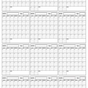 Yearly Wall Planner 24 x 36 by SwiftGlimpse Vertical Orientation