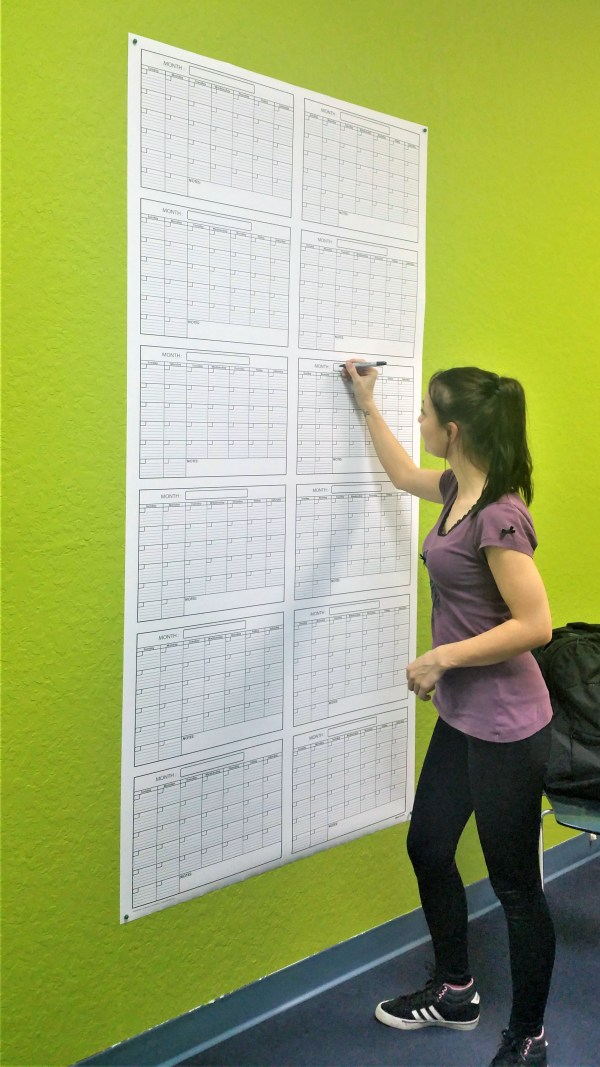 extra large wall calendar and planner reusable and undated