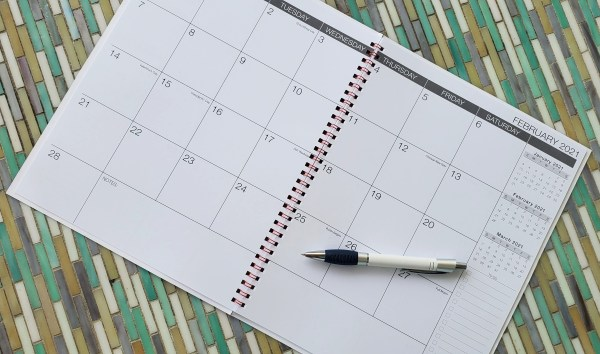 2021 Monthly planner calendar with spiral bind