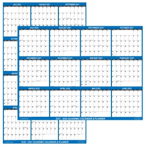 "2021 - 2022 Academic Planning Calendar 18"" x 24"" Navy reversible"