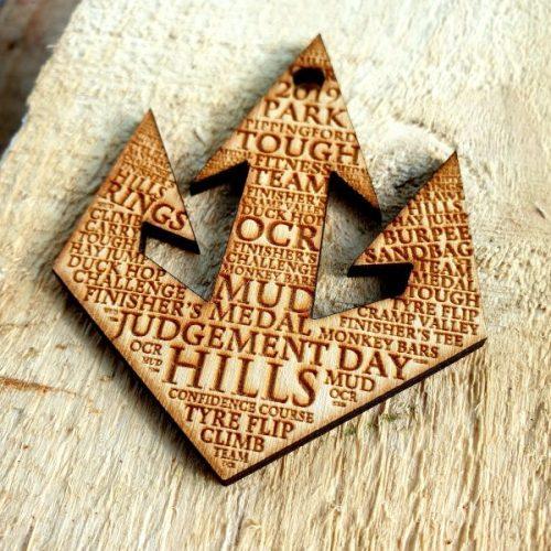 Bespoke wooden medal UK.