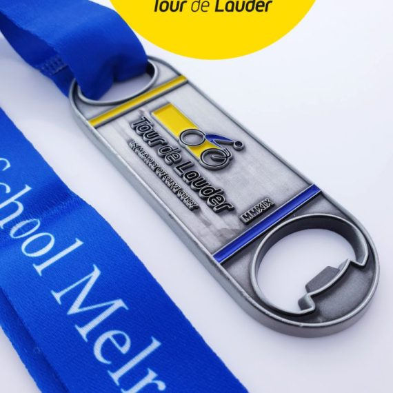 Bespoke sports medal by swift event supplies. Cycle medals UK