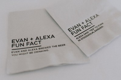 Custom Wedding Napkins - creative wedding ideas