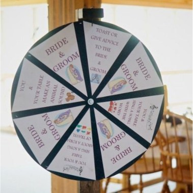 Wedding Prize Wheel - Creative wedding ideas