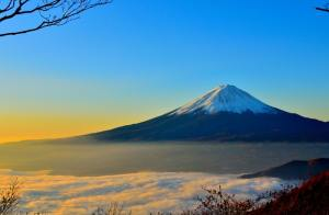 Fuji Mountain in Japan -  safest countries to travel in 2019