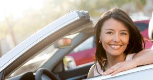 person in car - low auto insurance