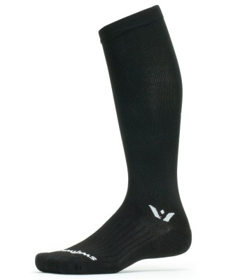 Swiftwick Aspire 12 Black Graduated Compression Sock