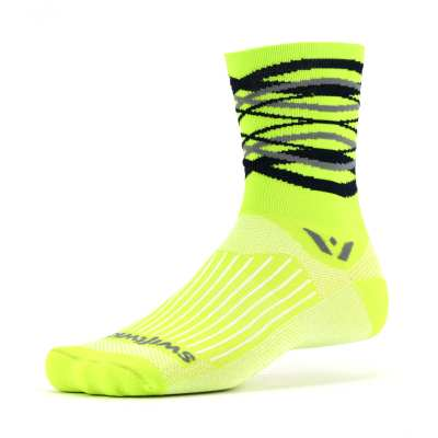 Swiftwick Vision Five Infinity Citron Gray Sock