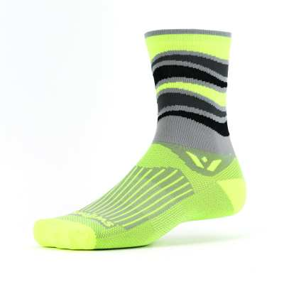 Swiftwick Vision Five Wave HiVis Yellow Sock
