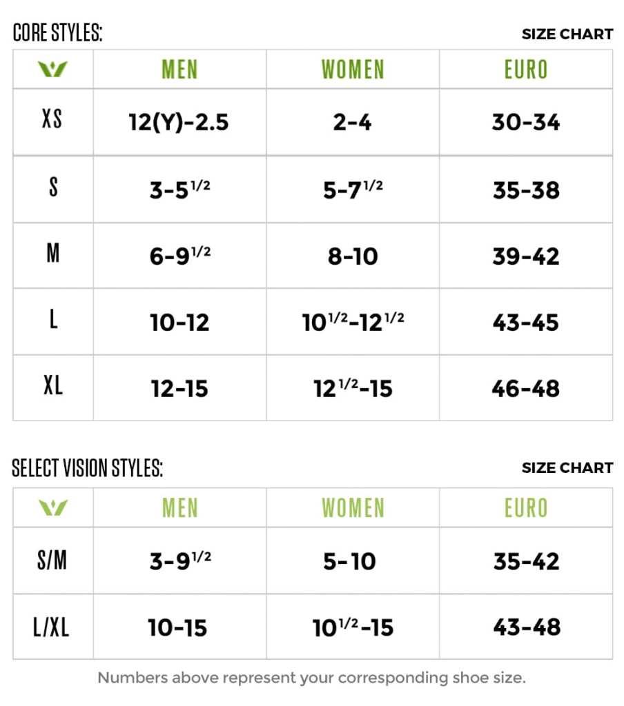 Swiftwick Size Chart