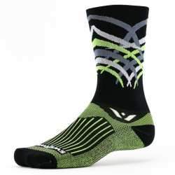 Swiftwick Vision Seven Shred Black Lime Sock