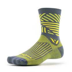 Swiftwick Vision Five Edge Gray Yellow Sock